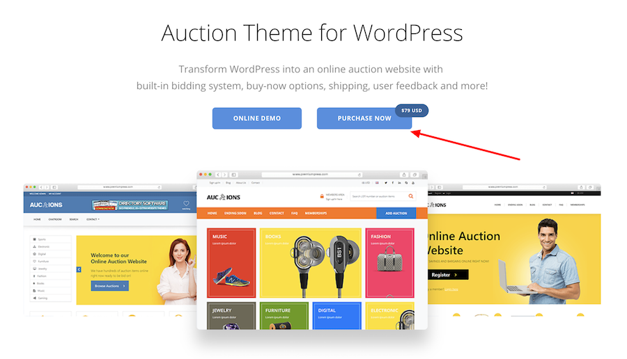 cost to build an auction website