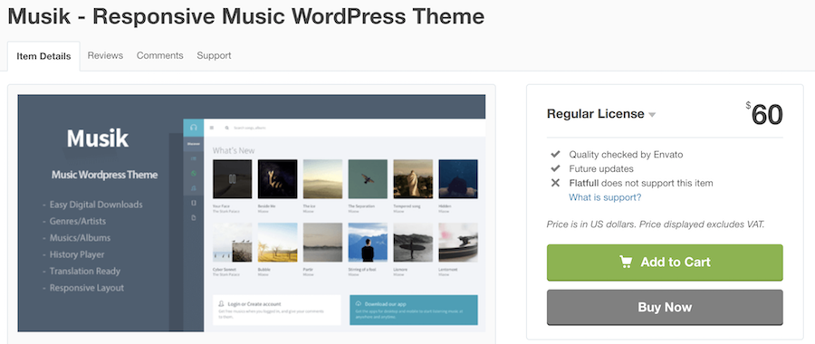 Download Muzik WordPress theme